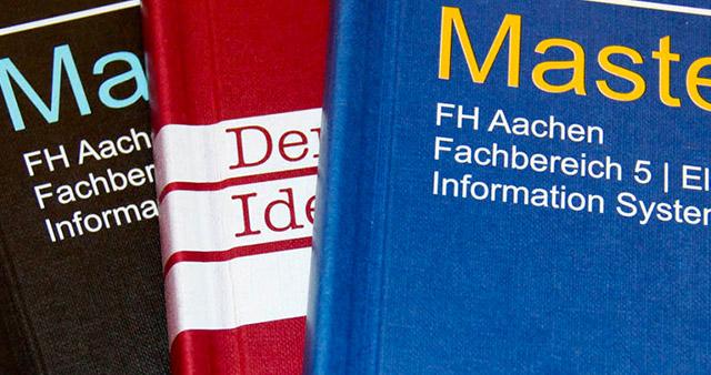 Wir drucken Ihre Abschlussarbeit, Bachelorarbeit, Thesis, Masterarbeit, Examensarbeit und Dissertation. Zur Wahl stehen: Buchbindung mit Hardcover, Klebebindung / Leimbindung und Drahtspiralbindung.